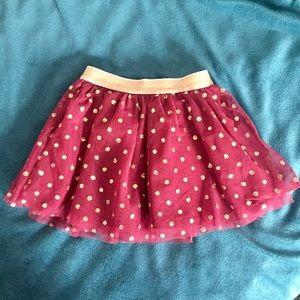 Toddler - Burgundy & Gold TuTu Skirt (Sz 3T)